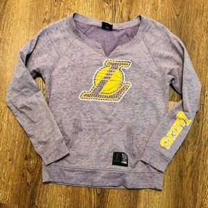 NBA For Her Lakers Bling Pull Over Hoodie (M)